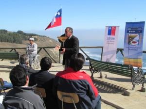 El alcalde de Navidad, Horacio Maldonado fue el encargado de inaugurar el Santuario