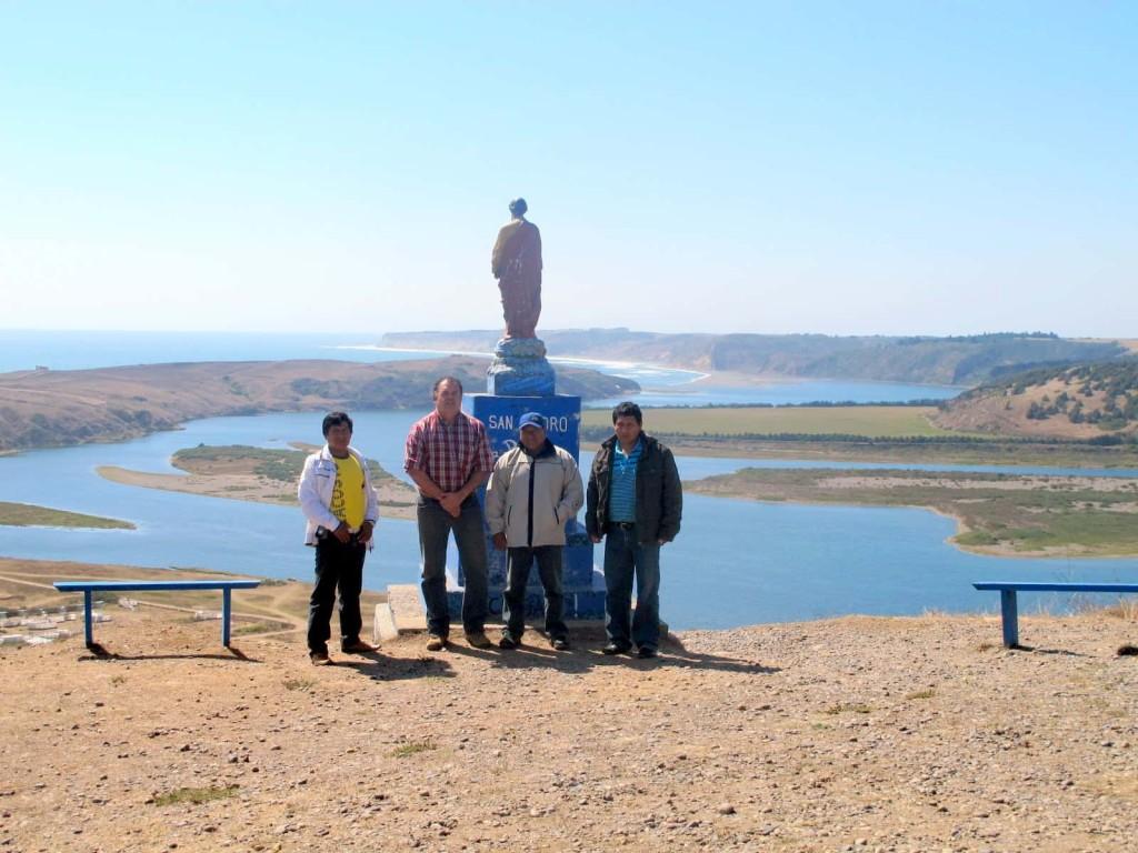 Con vista de la Boca de Navidad se consagró la estadía de la delegación peruana.
