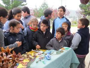 Niños que visitaron la feria